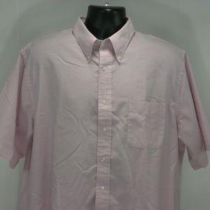 Lands' End 17.5 Tall Dress Oxford Camp Shirt